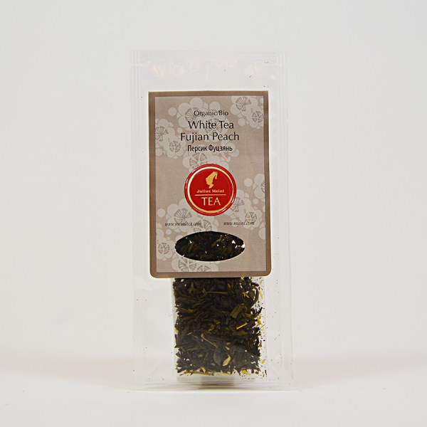 White Tea Fujian Peach, ceai organic Julius Meinl, Big Bags 2