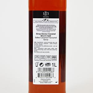Caramel Sarat, Sirop 1883 Maison Routin, 1L2