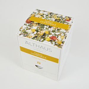 Fancy Chamomile, ceai Althaus Pyra Packs1