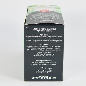 Refreshing Mint, ceai organic Julius Meinl, Big Bags2