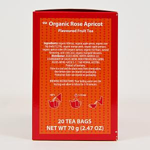 Rose Apricot, ceai organic Julius Meinl, Big Bags1