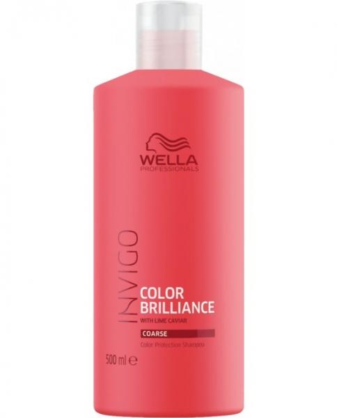 Sampon pentru par vopsit cu fir gros Wella Professionals Invigo Brilliance, 500 ml 0
