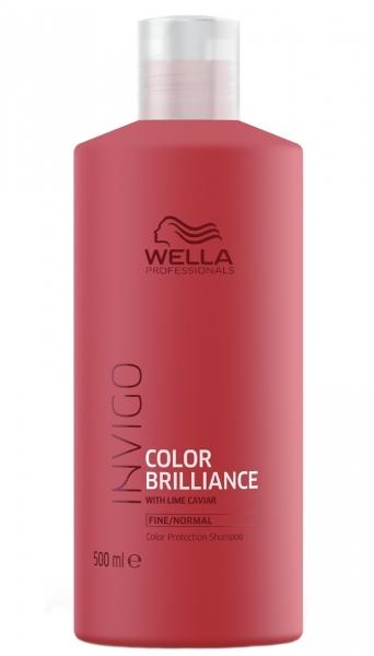 Sampon pentru par vopsit cu fir fin-normal Wella Professionals Invigo Brilliance, 500 ml 0
