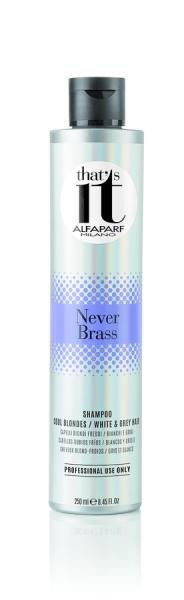 Sampon pigmentat TI pentru blond rece sau par alb Alfaparf Ti Never Brass ,250 ml 0