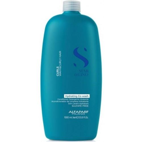 Balsam de curatare pentru par cret sau ondulat Alfaparf Semi di Lino Curls Hydrating, 1000 ml 0