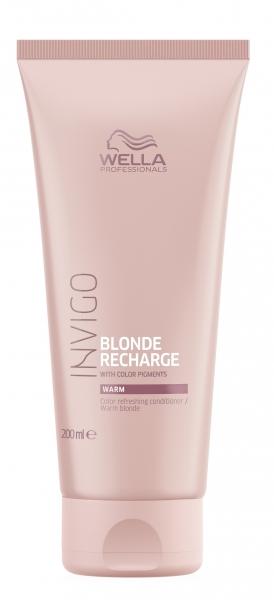 Balsam pentru pastrarea culorii pentru par vopsit blond cald Wella Professionals Invigo Recharge Warm Blonde, 200 ml 0