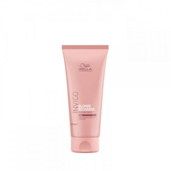 Balsam pentru pastrarea culorii pentru par vopsit blond rece Wella Professionals Invigo Recharge Cool Blonde, 200 ml 0