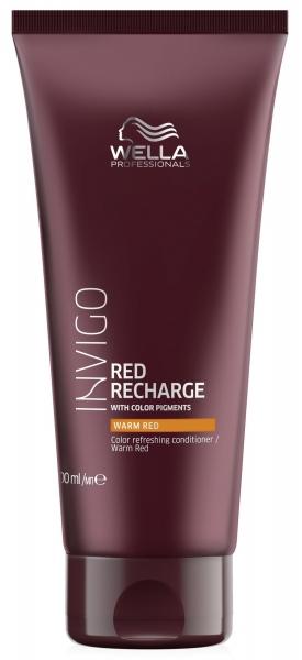 Balsam pentru pastrarea culorii pentru par vopsit roscat cald Wella Professionals Invigo Recharge Warm Red, 200 ml 1
