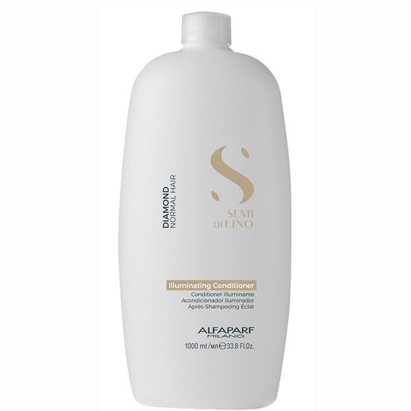 Balsam pentru stralucire fara sulfati Alfaparf Semi di Lino Diamond Illuminating Conditioner, 1000 ml 1