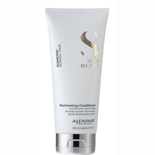 Balsam pentru stralucire fara sulfati Alfaparf Semi di Lino Diamond Illuminating Conditioner, 200 ml 1