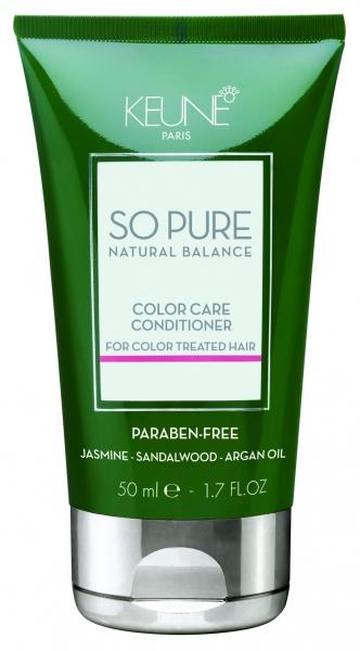 Balsam tratament pentru ingrijirea parului colorat Keune So Pure Color Care, 50ml 0
