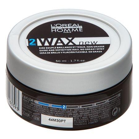 Ceara pentru par cu fir gros L`Oreal Professionnel Homme Wax, 50 ml 0