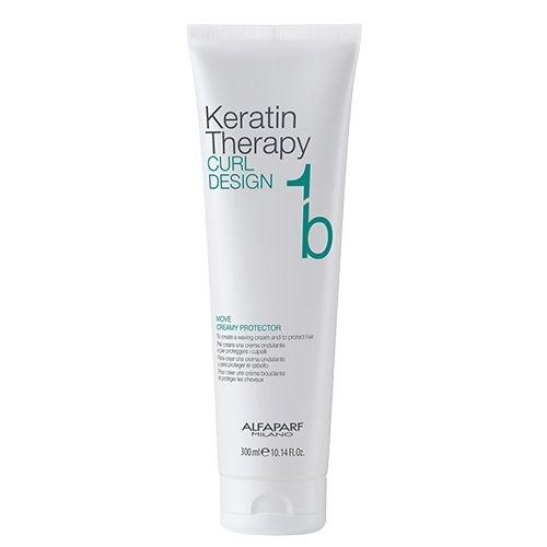 Crema de protectie Alfaparf Alfaparf Keratin Therapy Curl Design Move Creamy Protector 1b, 300 ml 0