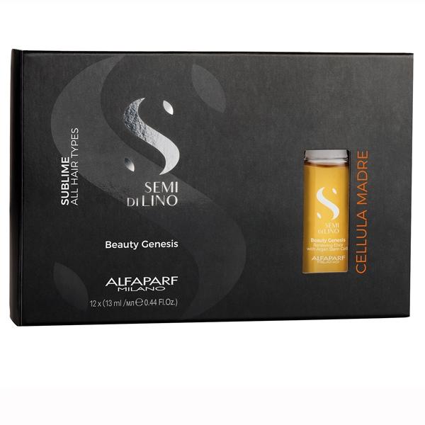 Elixir de regenerare cu celule stem de argan Alfaparf Semi di Lino Sublime Cel Madre Beauty Genesis, 12x13 ml 1