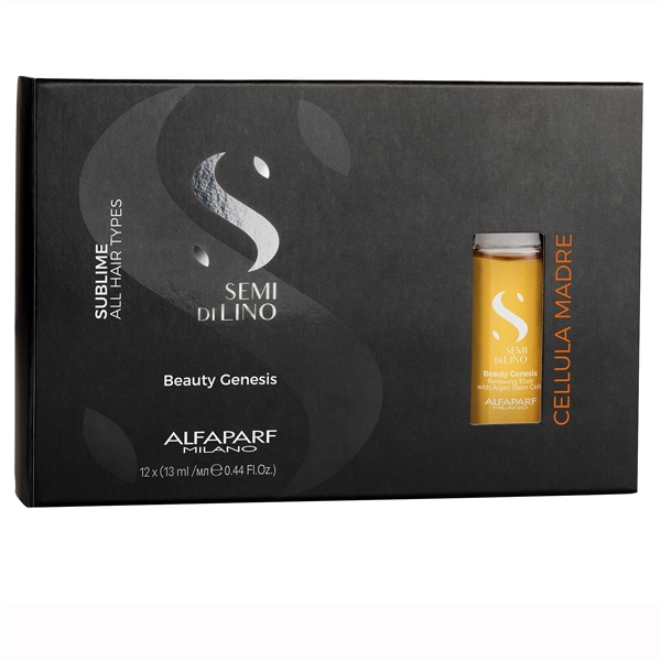 Elixir de regenerare cu celule stem de argan Alfaparf Semi di Lino Sublime Cel Madre Beauty Genesis, 12x13 ml 0