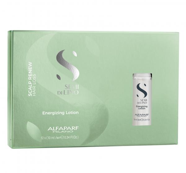 Fiole tratament anti-caderea parului Alfaparf Semi di Lino Scalp Renew Energizing, 12x10 ml 0