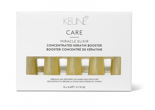 Fiole tratament cu keratina pentru repararea firului de par Keune Miracle Elixir Keratin Booster, 15 x 2 ml 0