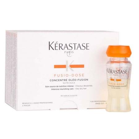Fiole tratament pentru par foarte uscat volum Kerastase Fusio-Dose Concentre Oleo Fusion, 10 * 12 ml 0