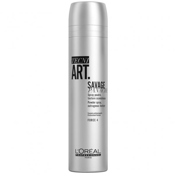 Fixativ cu pulbere uscata pentru fixare puternica L`Oreal Professionnel Tecni.ART Savage Panache, 250 ml 0