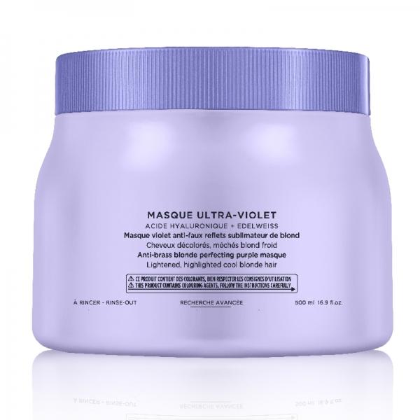 Masca pentru neutralizarea tonurilor de galben Kerastase Blond Absolu Masque Ultra-Violet, 500 ml 0