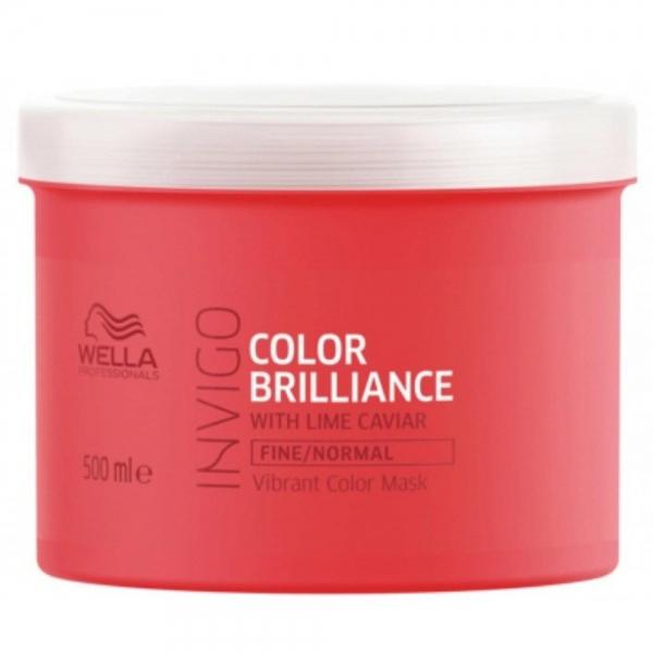 Masca pentru par vopsit cu fir fin-normal Wella Professionals Invigo Brilliance, 500 ml 0