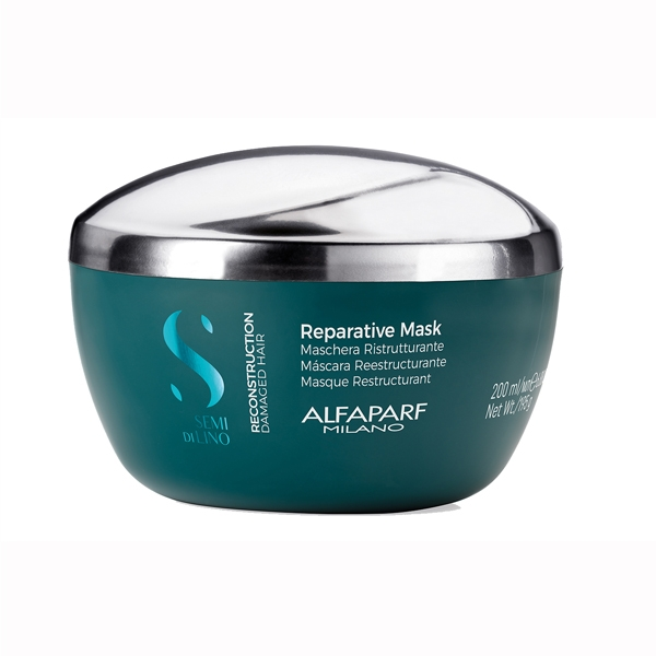 Masca pentru reconstructie fara sulafti Alfaparf Semi di Lino Reconstruction Reparative Mask, 200 ml 1