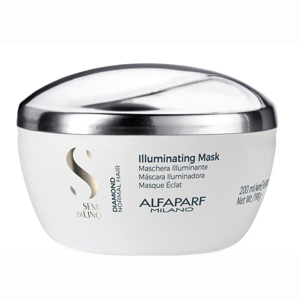 Masca pentru stralucire fara sulfati Alfaparf Semi di Lino Diamond Illuminating Mask, 200 ml 0