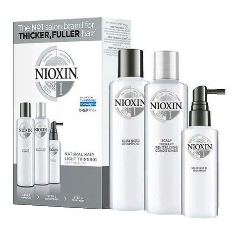 Maxi set impotriva caderii parului Nioxin System 1, 300+300+100 ml 0