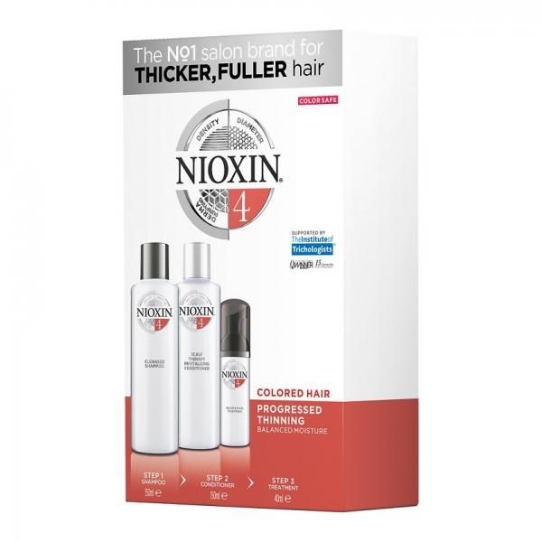 Maxi set impotriva caderii parului Nioxin System 4, 300+300+100 ml 0