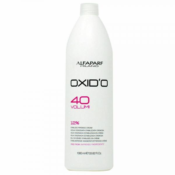 Oxidant crema cu peroxid de hidrogen 12% Alfaparf  OXID'O H202 40VOL ,1L 0