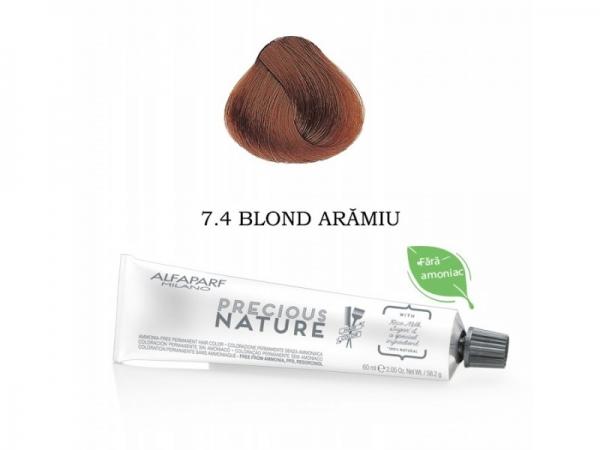 Vopsea permanenta fara amoniac Alfaparf Precious Nature Nr.7.4 ,60 ml 0