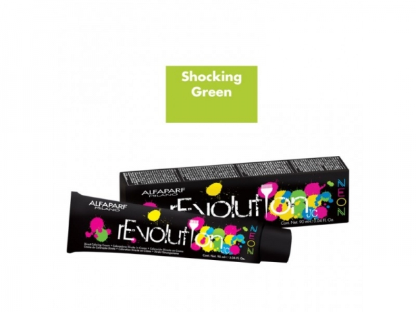 Crema de colorare directa Alfaparf rEVOLUTION JC NEON SHOCK.GREEN ,90 ml 0