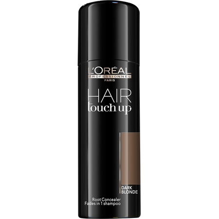 Spray corector pentru acoperirea firelor albe  L`Oreal Professionnel Hair Touch-Up Dark Blonde, Blond Inchis, 75 ml 0