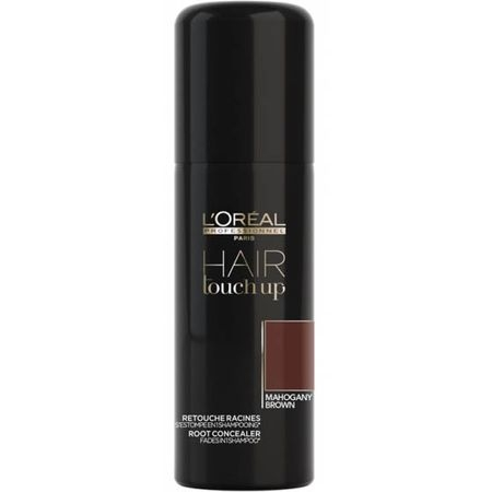 Spray corector pentru acoperirea firelor albe  L`Oreal Professionnel Hair Touch-Up Mahogany Brown, Saten Roscat, 75 ml 0