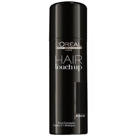 Spray corector pentru acoperirea firelor albe  L`Oreal Professionnel Hair Touch-Up Black, Negru, 75 ml 0