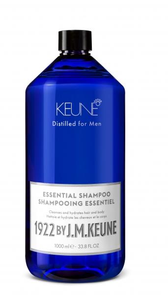 Sampon barbati  2 in 1 pentru toate tipurile de par Keune 1922 Essential Shampoo, 1000 ml 0