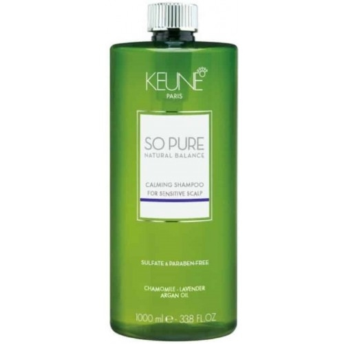 Sampon cu efect calmant pentru scalp sensibil fara sulfati si parabeni Keune So Pure Calming, 1000ml 0