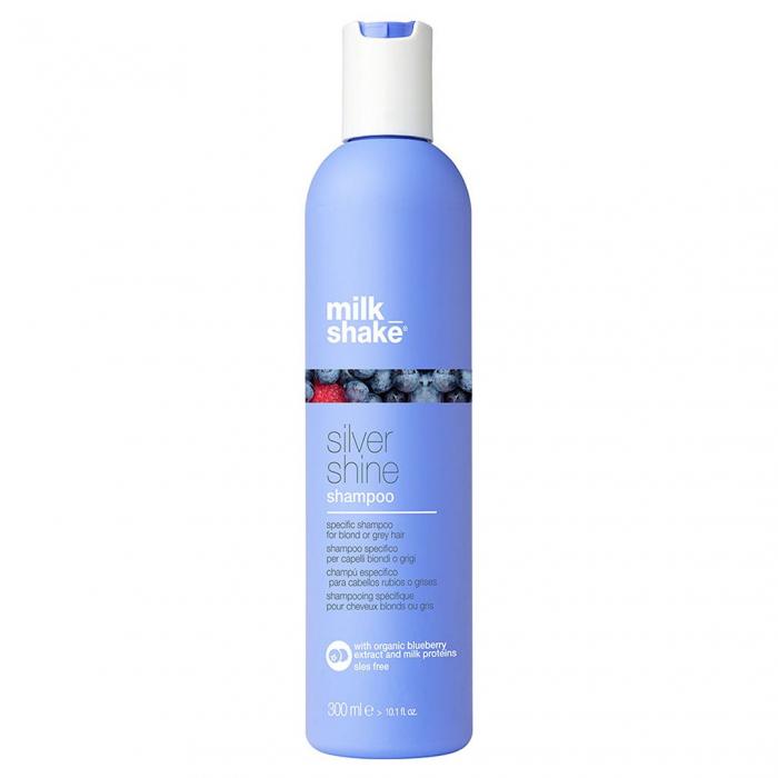 Sampon pentru par gri, blond sau alb Milk Shake Silver Shine, 300 ml [0]