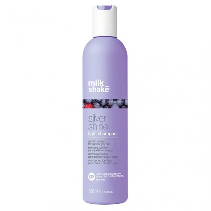 Sampon pentru par gri, blond sau alb Milk Shake Silver Shine Light, 300 ml [0]