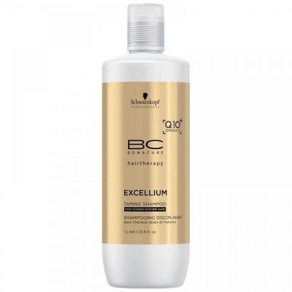 Sampon pentru par matur aspru Schwarzkopf Bonacure Taming Shampoo, 1000 ml 0
