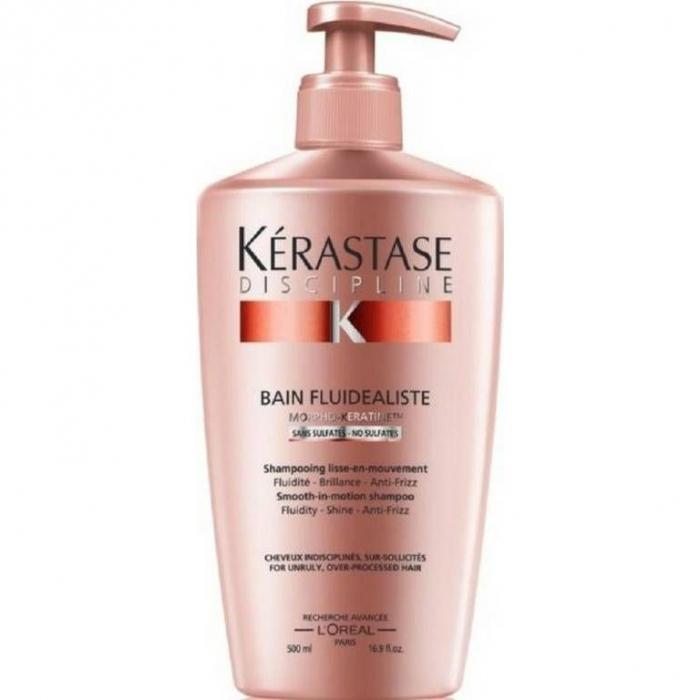 Sampon pentru par rebel fara sulfati Kerastase Discipline Bain Fluidealiste, 500 ml [0]