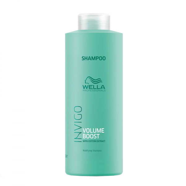 Sampon pentru par subtire, fara volum Wella Professionals Invigo Volume Boost, 1000 ml 2