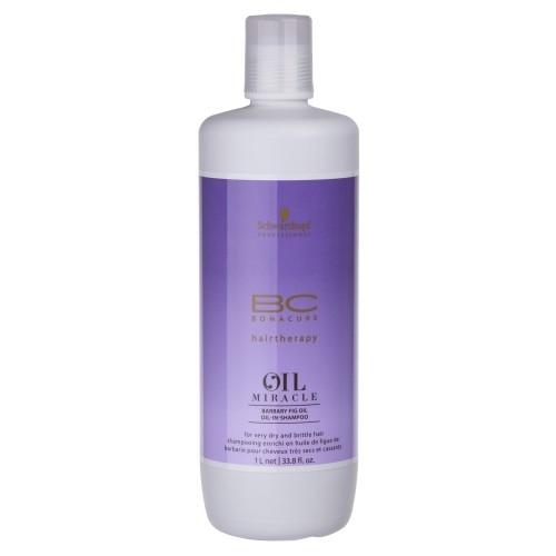 Sampon pentru par uscat si degradat cu ulei de fruct de cactus  Schwarzkopf Bonacure Oil Miracle Barbary Fig Shampoo, 1000 ml 0