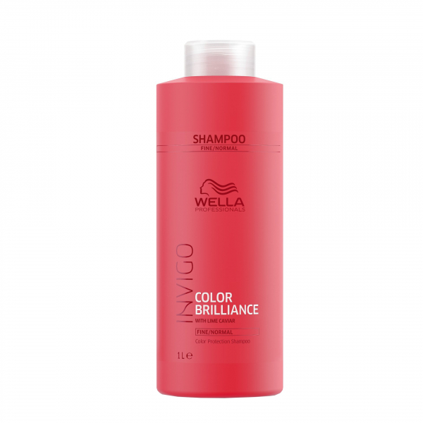 Sampon pentru par vopsit cu fir fin-normal Wella Professionals Invigo Brilliance, 1000 ml 1
