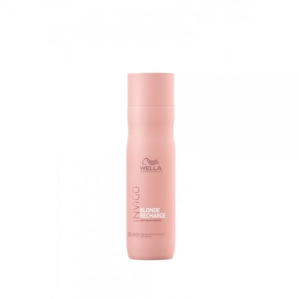 Sampon pentru pastrarea culorii pentru par vopsit blond rece Wella Professionals Invigo Recharge Cool Blonde, 250 ml 0