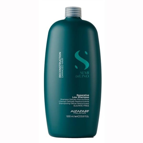 Sampon pentru reconstructie fara sulfati Alfaparf Semi di Lino Reconstruction Reparative Shampoo, 1000 ml 1