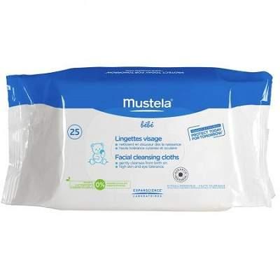 Servetele de curatare pentru fata +0 luni Mustela, 25 bucati 0