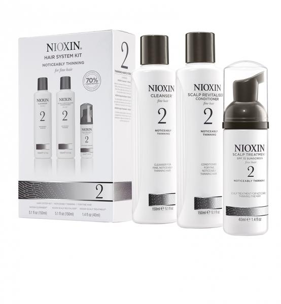 Set impotriva caderii parului Nioxin System 2, 150+150+40ml 0