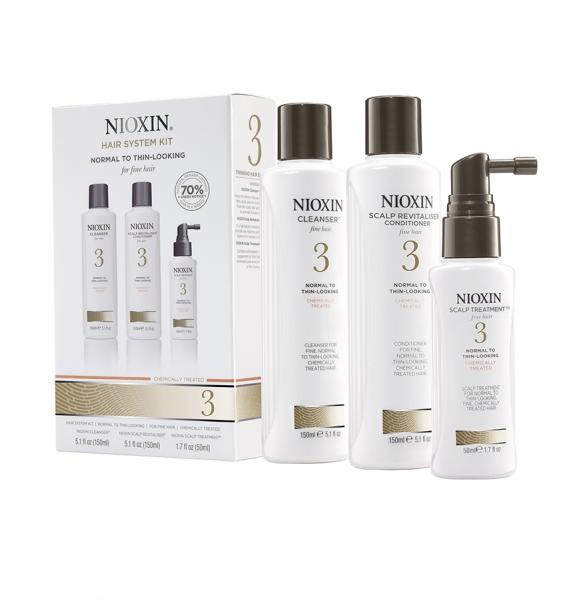 Set impotriva caderii parului Nioxin System 3, 150+150+50ml 1