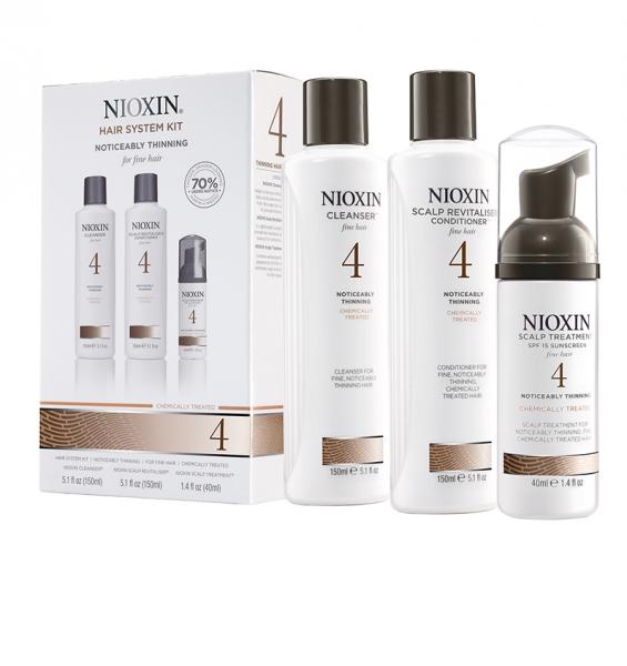 Set impotriva caderii parului Nioxin System 4, 150+150+40ml 1